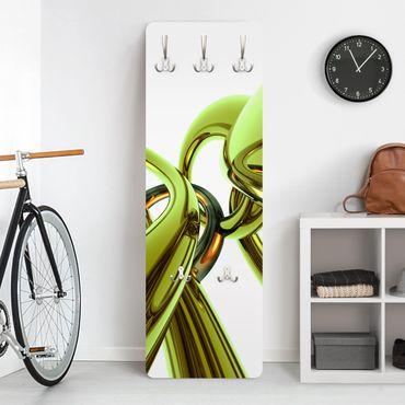Design Garderobe - Stunning Green Style - Weiß Grün