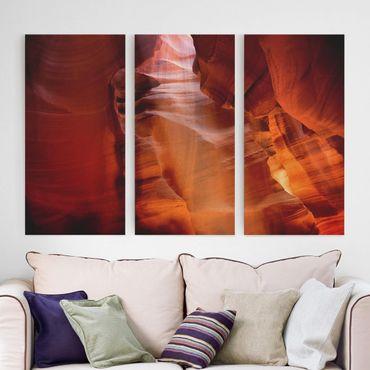 Leinwandbild 3-teilig - Antelope Canyon - Hoch 1:2