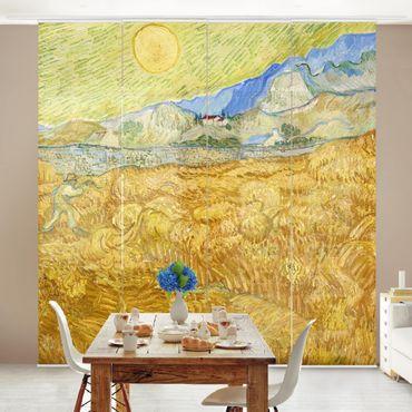 Schiebegardinen Set - Vincent van Gogh - Die Ernte, Kornfeld mit Schnitter - Flächenvorhänge