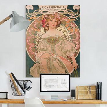 Leinwandbild - Alfons Mucha - Plakat für F. Champenois - Hochformat 4:3