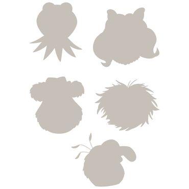 Die Muppet Show Wandtattoo - Silhouetten Rate-Set - Komar Deco-Sticker