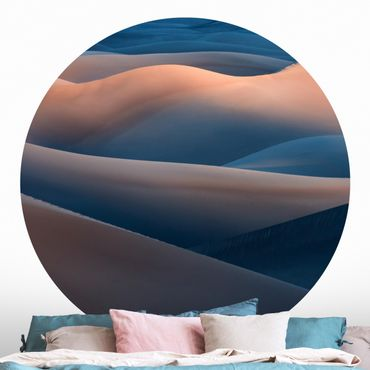 Runde Tapete selbstklebend - Die Farben der Wüste