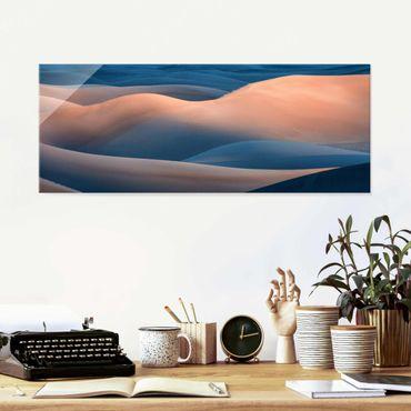 Glasbild - Die Farben der Wüste - Panorama