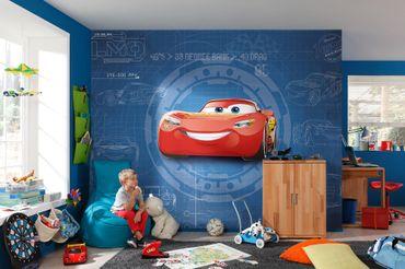 Disney Cars 3 Kindertapete - Blueprint - Komar Fototapete