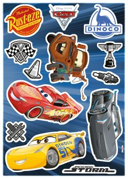 Disney Cars Wandtattoo Kinderzimmer - Cars 3 - Komar Deco-Sticker