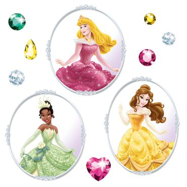 Disney Prinzessinnen Fenstersticker - Prinzessin Set - Komar Deco-Sticker