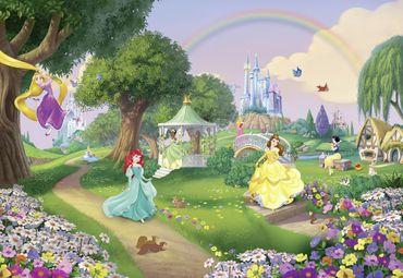 Disney Prinzessinnen Kindertapete - Regenbogen - Komar Fototapete
