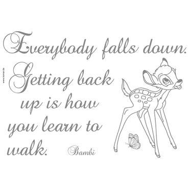 Disney Wandtattoo - Bambi: Getting back up - Komar Deco-Sticker