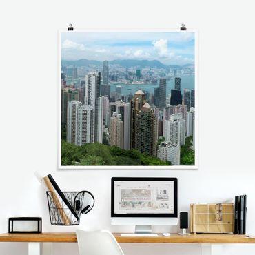 Poster - Watching HongKong - Quadrat 1:1