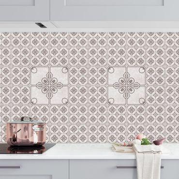 Küchenrückwand - Fliesenmuster Porto grau
