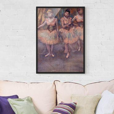 Bild mit Rahmen - Edgar Degas - Tänzerinnen vor Exercice - Hochformat 3:4