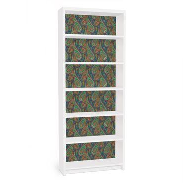 Möbelfolie für IKEA Billy Regal - Klebefolie Filigranes Paisley Design