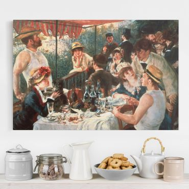 Leinwandbild - Auguste Renoir - Das Frühstück der Ruderer - Querformat 2:3
