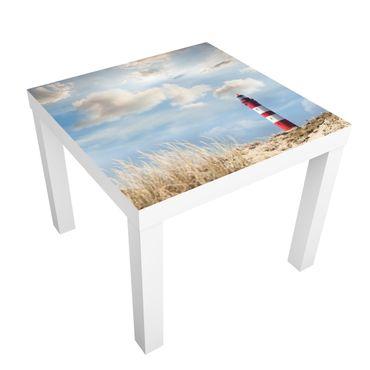Möbelfolie für IKEA Lack - Klebefolie Leuchtturm in den Dünen