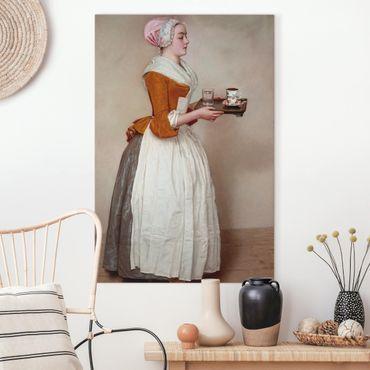 Leinwandbild - Jean Etienne Liotard - Das Schokoladenmädchen - Hochformat 3:2