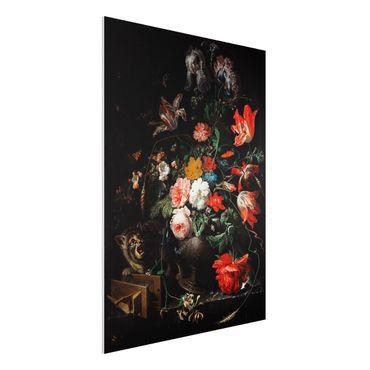 Forex Fine Art Print - Abraham Mignon - Das umgeworfene Bouquet - Hochformat 4:3