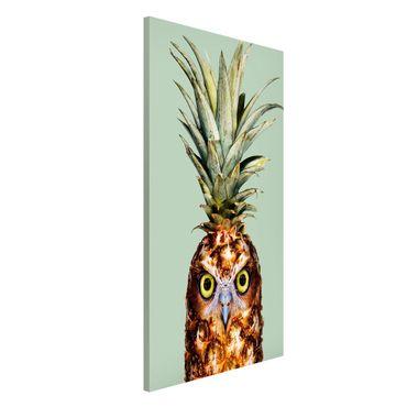 Magnettafel - Jonas Loose - Ananas mit Eule - Memoboard Hochformat 4:3