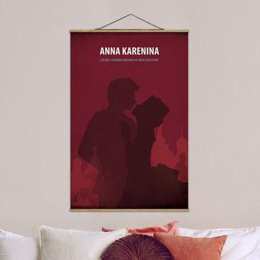 Stoffbild mit Posterleisten - Filmposter Anna Karenina - Hochformat 3:2