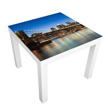 Möbelfolie für IKEA Lack - Klebefolie Brooklyn Brücke in New York