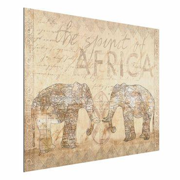 Aluminium Print gebürstet - Vintage Collage - Spirit of Africa - Querformat 3:4