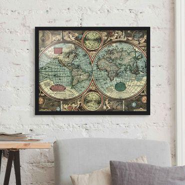 Bild mit Rahmen - Die alte Welt - Querformat 3:4