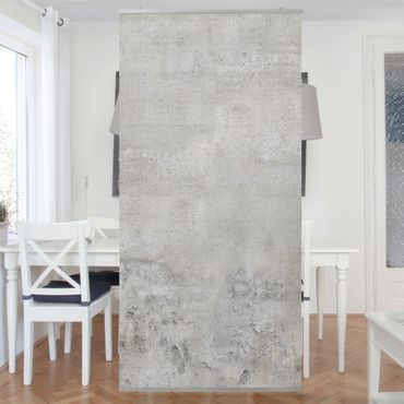 Raumteiler - Shabby Betonoptik 250x120cm