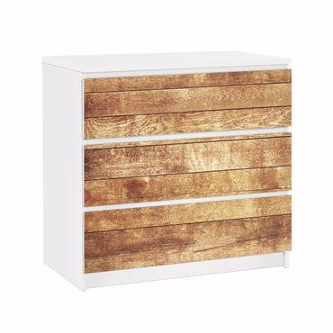 Möbelfolie für IKEA Malm Kommode - Klebefolie Nordic Woodwall