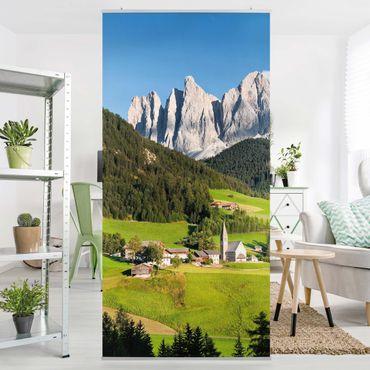 Raumteiler - Geislerspitzen in Südtirol 250x120cm