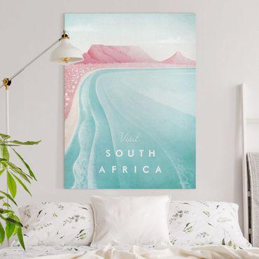 Leinwandbild - Reiseposter - Südafrika - Hochformat 4:3