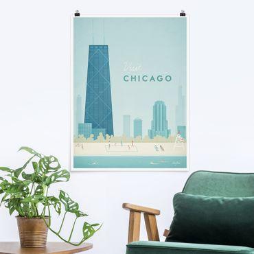 Poster - Reiseposter - Chicago - Hochformat 4:3