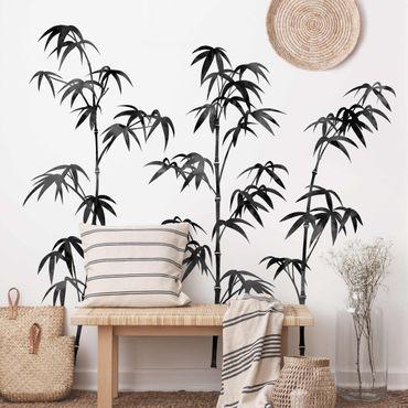 Wandtattoo - Aquarell Bambus Baum Schwarz