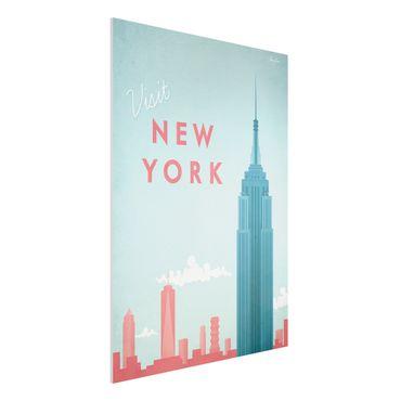 Forex Fine Art Print - Reiseposter - New York - Hochformat 4:3
