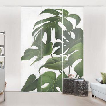 Schiebegardinen Set - Lieblingspflanzen - Monstera - Flächenvorhang