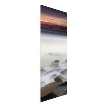 Forex Fine Art Print - Sonnenuntergang im Nebel - Panel