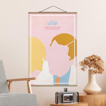 Stoffbild mit Posterleisten - Filmposter The great Gatsby - Hochformat 3:2