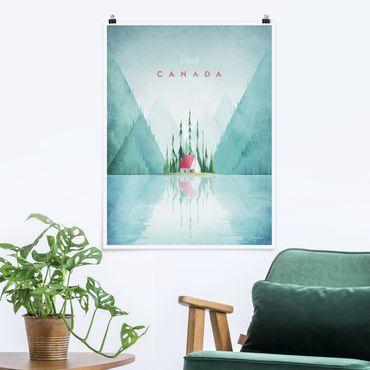 Poster - Reiseposter - Canada - Hochformat 4:3