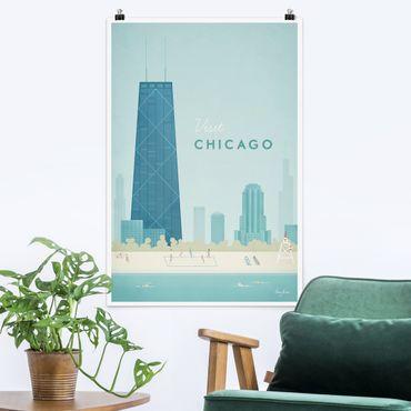 Poster - Reiseposter - Chicago - Hochformat 3:2