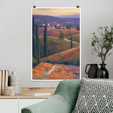 Poster - Landschaft am Nachmittag I - Hochformat 3:2