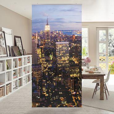 Raumteiler - New York Skyline bei Nacht 250x120cm