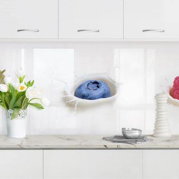 Küchenrückwand - Früchte Milch Splash