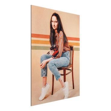 Aluminium Print - Jonas Loose - Retro Mona Lisa - Hochformat 4:3