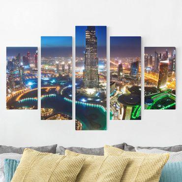Leinwandbild 5-teilig - Dubai Marina