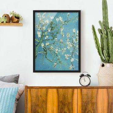 Bild mit Rahmen - Vincent van Gogh - Mandelblüte - Hochformat 3:4