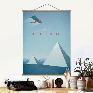 Stoffbild mit Posterleisten - Reiseposter - Cairo - Hochformat 4:3