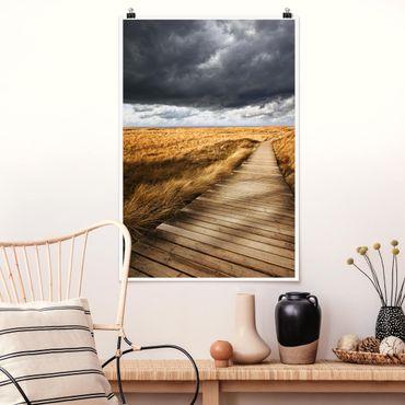 Poster - Weg in den Dünen - Hochformat 3:2