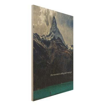 Holzbild - Lyrische Landschaften - Berg - Hochformat 3:2