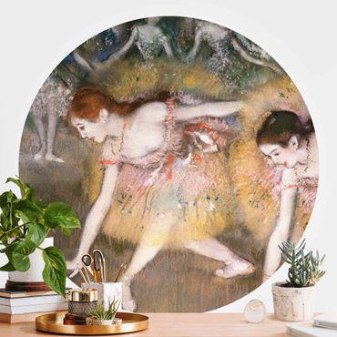 Runde Tapete selbstklebend - Edgar Degas - Verbeugende Ballerinen