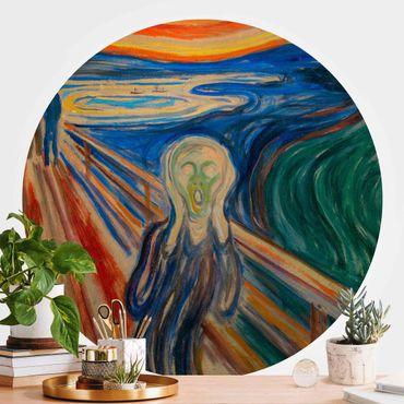 Runde Tapete selbstklebend - Edvard Munch - Der Schrei
