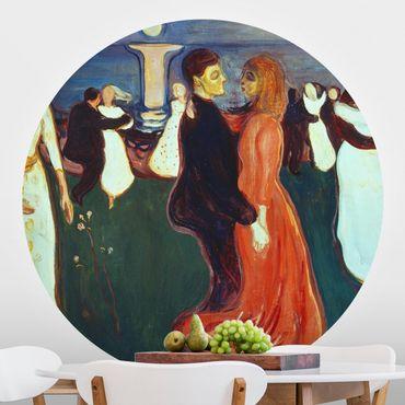 Runde Tapete selbstklebend - Edvard Munch - Der Tanz des Lebens