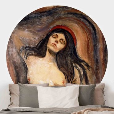 Runde Tapete selbstklebend - Edvard Munch - Madonna